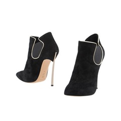 Shoespie Stripe Color Block Slip-On Stiletto Heel Ankle Boot