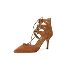 Shoespie Casual Pointed Toe Lace-Up Stiletto Heels