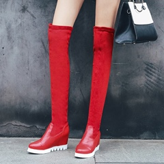 Shoespie Platform Hidden Elevator Heel Knee High Boots