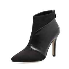 Shoespie Pointed Toe Back Zip Stiletto Ankle Boots