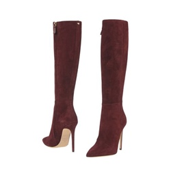 Shoespie Stiletto Heel Side Zipper Knee High Boots
