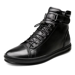 Shoespie Casual Round Toe Thread Lace-Up Men's Boot