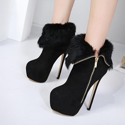 Shoespie Winter Stiletto HeelPlatform Ankle Boots