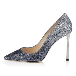 ShoespieGradient Pointed Toe Sequin Glitter Stiletto Heels
