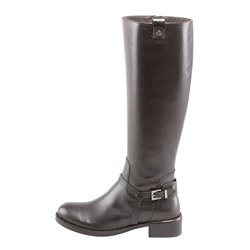 Shoespie Casual Buckle Block Heel Side Zipper Knee High Boot