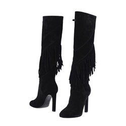 Shoespie Fringe Stiletto Heel Side Zipper Knee High Boots