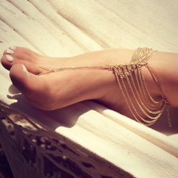 Shoespie E-Plating Multilevel Beautiful Anklets