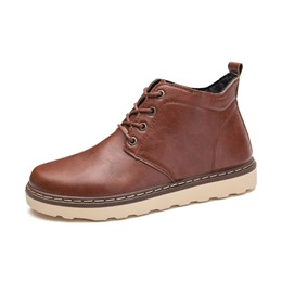Shoespie Casual Lace-Up Front Ankle Martin Boots