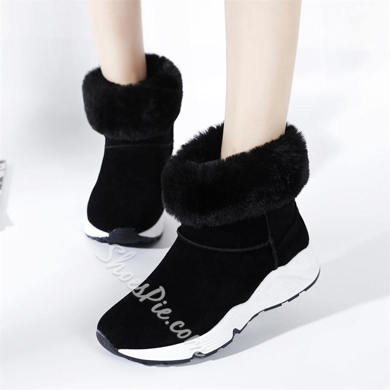 Shoespie Round Toe Slip-On Flat Heel Sneaker