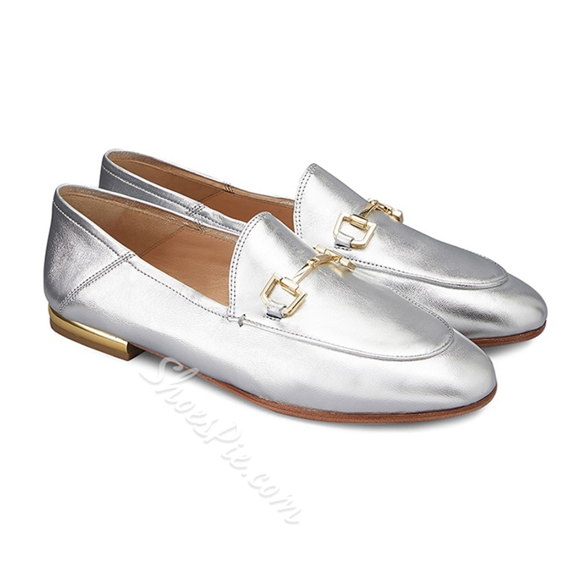 Shoespie Casual Sequin Block Heel Slip-On Flats