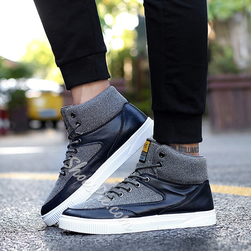Shoespie Casual High-Cut Upper Lace-Up Casual Sneaker