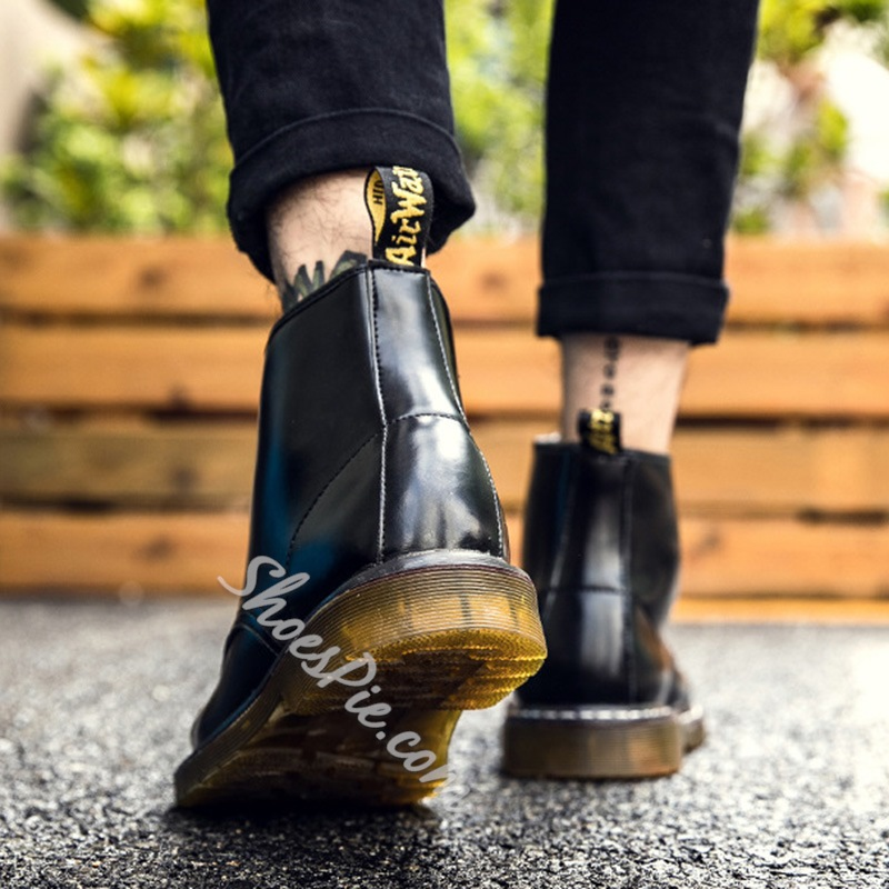 ShoespieLace-Up Front Sequin Martin Boots