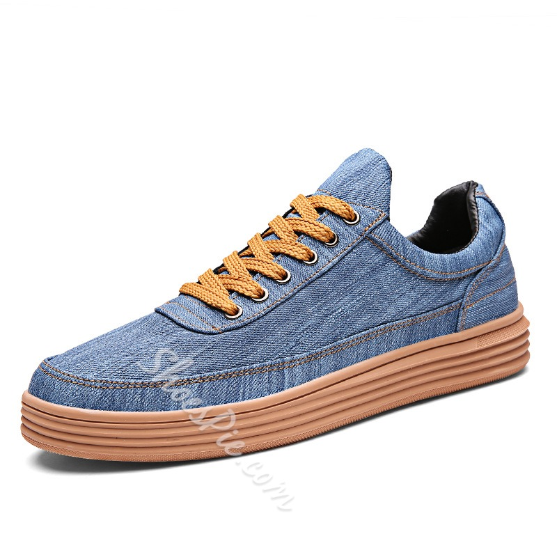 Shoespie Round Toe Casual Lace-Up Sneaker