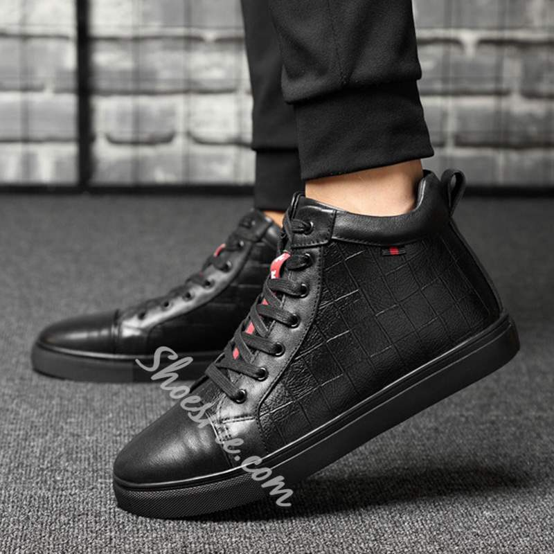 Shoespie Casual Winter Round Toe Lace-Up Sneakers