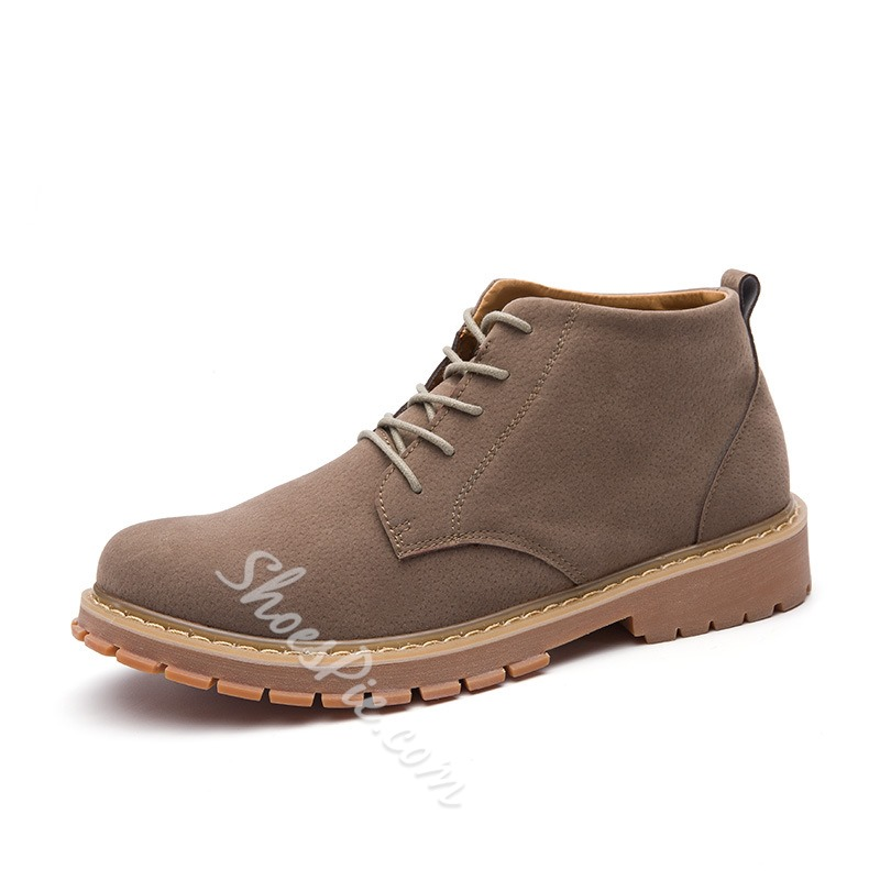 Shoespie Casual Lace-Up Front Martin Boots