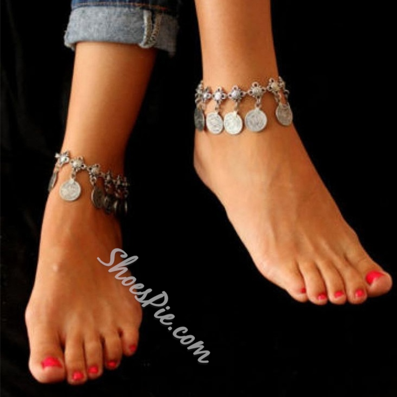 Shoespie Vintage Coin Tassel Anklet for Women