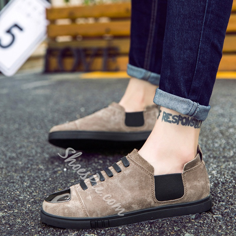ShoespieCasual Color Block Round Toe Elastic Men's Loafer