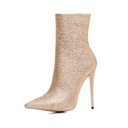Shoespie Gold Sexy Stiletto Heel Women's Boots