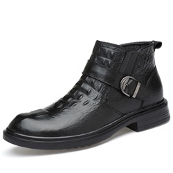 Casual Round Toe Slip-On Men's Fashion Boots