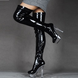 ShoespieSide Zipper Platform Knee High Boots