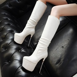Shoespie Platform High Heel Knee High Boots