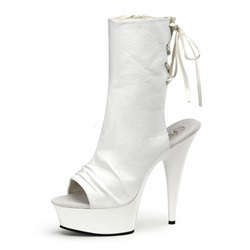 Shoespie Cross Strap Hollow Platform Stiletto Heel Ankle Boots
