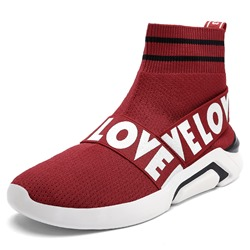 Shoespie Slip-On Letter Sneakers