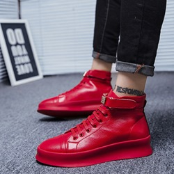 Lace-Up Casual Round Toe Men's Sneakers