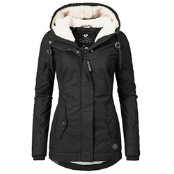 Zipper Hooded Long Sleeve Slim Mid-Length Women's Jacket