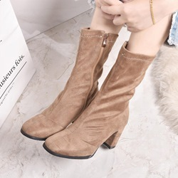 Fashion Chunky Heel Ankle Boots
