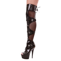 Shoespie Platform See-Through Knee High Boots