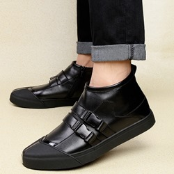 Shoespie Buckle Round Toe Ankle Sneakers