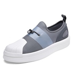 Shoespie Casual Elastic Band Round Toe Sneakers