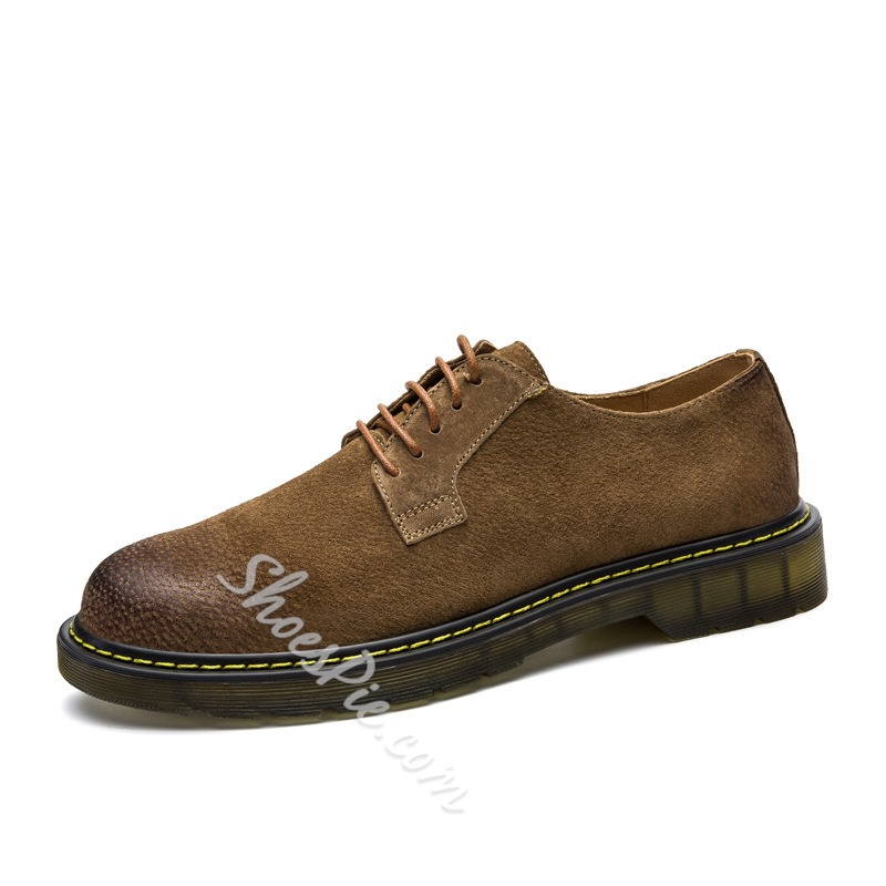 Shoespie Casual Round Toe Lace-Up Sneakers