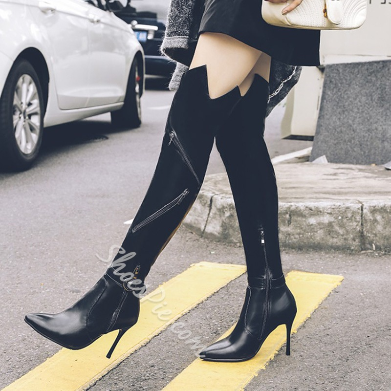 Shoespie Stiletto High Heels Sexy Knee High Boots