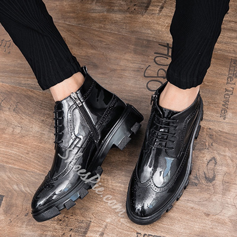 Lace-Up Sneakers Casual Oxfords Fashion Boots