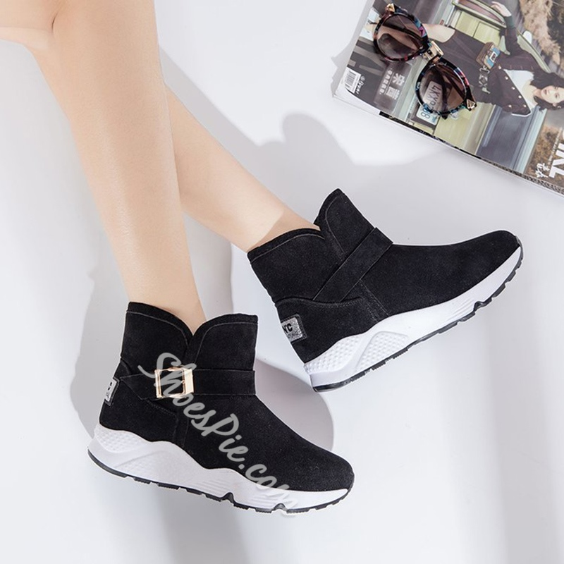 ShoespieCasual Buckle Flat HeelSnow Boots
