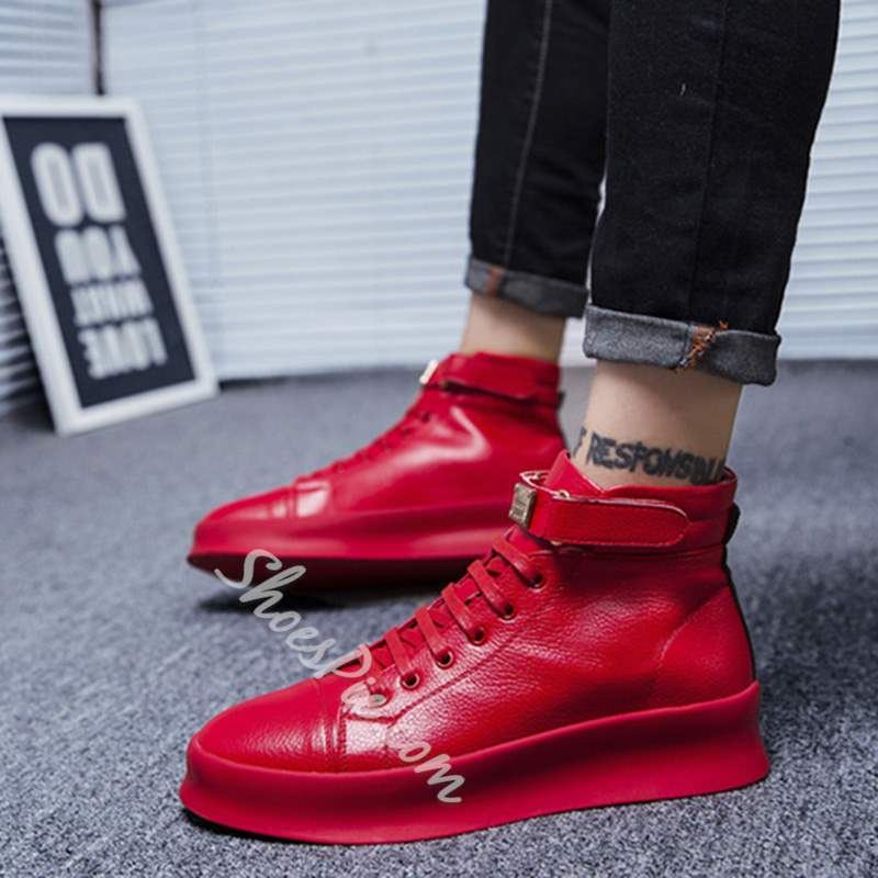 Shoespie Lace-Up Casual Round Toe Men's Sneakers