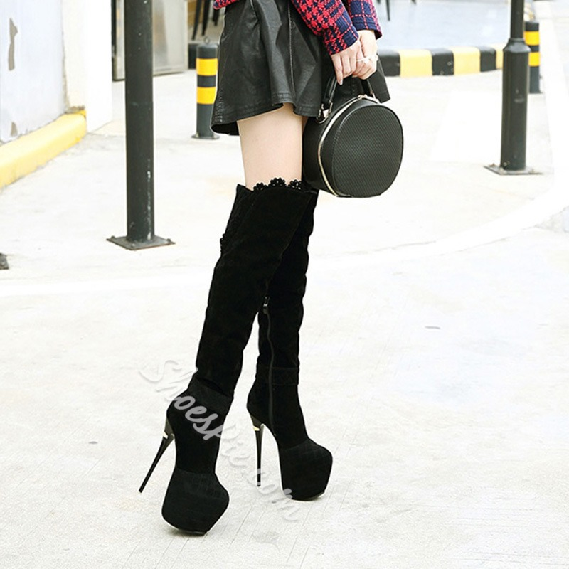 Shoespie Platform Stiletto Heel Women's Knee High Boots