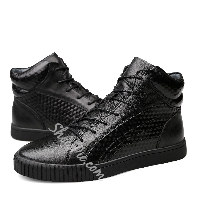 Shoespie Lace-Up Sneakers Men's Martin Boots