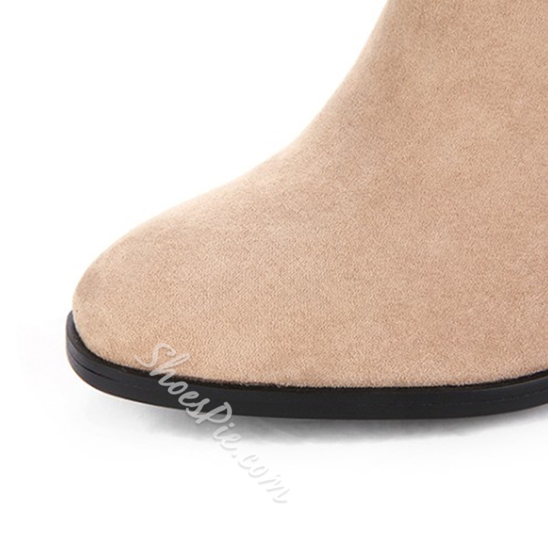 Shoespie Chunky Heel Ankle Boots For Women