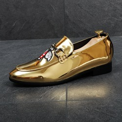 Sheospie Sequin Embroidery Men's Loafers