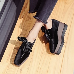 Square Toe Platform Casual Women's Shoes