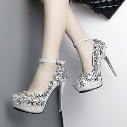 Floral Platform High Stiletto Heels