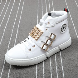 Shoespie Lace-Up Boots Rivet Men's Sneakers