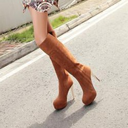 Shoespie StilettoHigh Heel Platform Knee High Boots