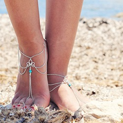 Shoespie Charming Retro Hollow Out Tassel Women's Anklet