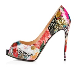 Shoespie Peep Toe Platform Print Stiletto Heels shoespie