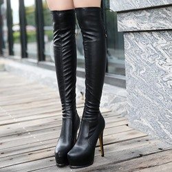 Shoespie Stiletto Heel Platform Knee High Boots