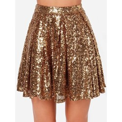 Sequins A-Line Mini Skirt Women's Skirt